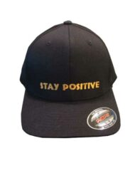 Black-Flex-Fit-Hat-with-Gold-Stay-Positive 2