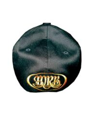 Black-Flex-Fit-Hat-with-Gold-Stay-Positive-back